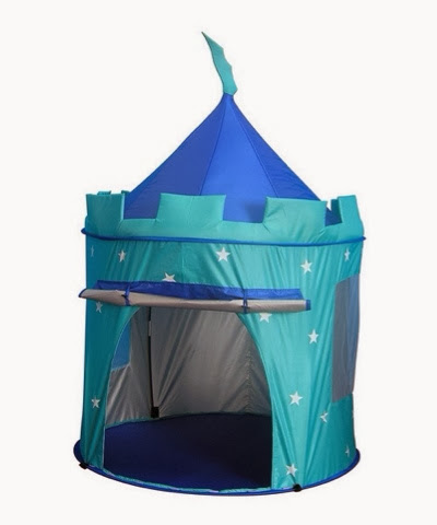Popit pop up blue castle tent