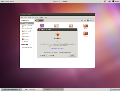 Ubuntu 11.10 classic GNOME Session