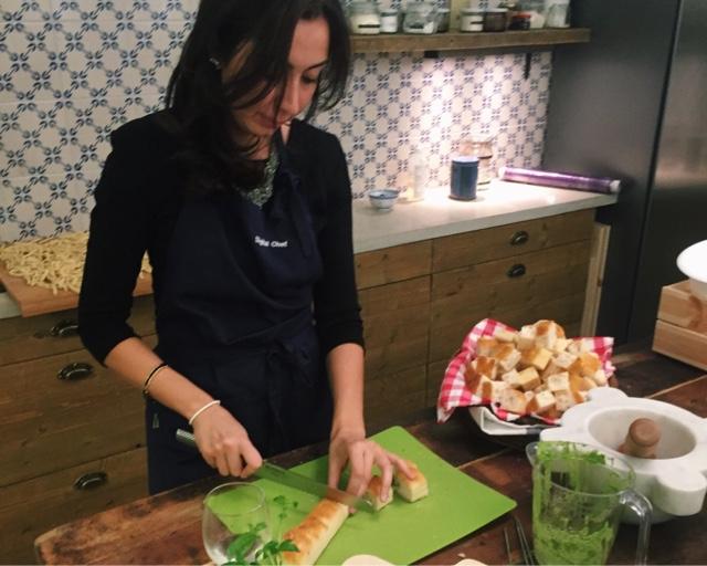 Vi lagar italiensk mat i en matstudio