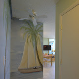 View as you enter our home.  Hand painted murals to put you in the beach-mood