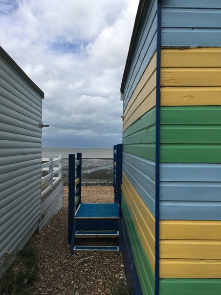 Between the Beach Huts, Whitstable Harbour