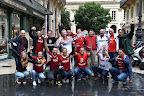 Magyar szurkolók Bordeaux belvárosában a franciaországi labdarúgó Európa-bajnokságon, 2016. június 14. (MTI Fotó: Illyés Tibor)
