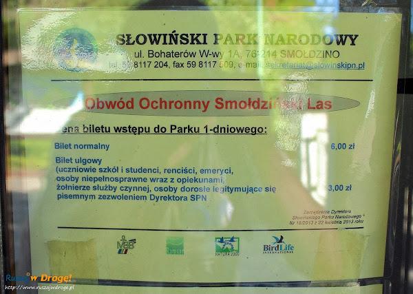 Bilety wstepu do słowińskiego parku narodowego