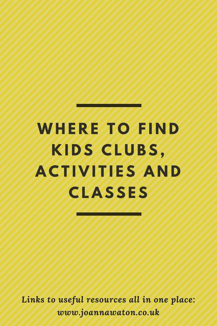 Where to find kids clubs, activities and classes