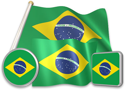 Brazilian flag animated gif collection