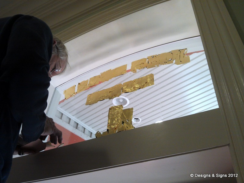 glass gilding - john logan house