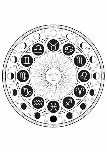 Coloring Page Astrological Signs Mandala By Louise Free To Print