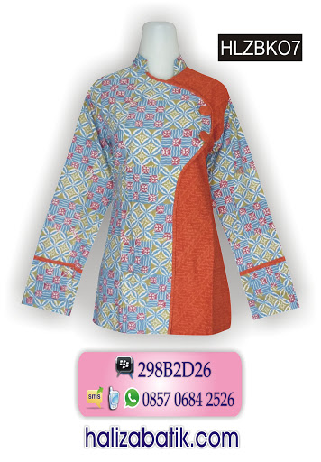 model baju batik atasan, atasan batik wanita, baju wanita