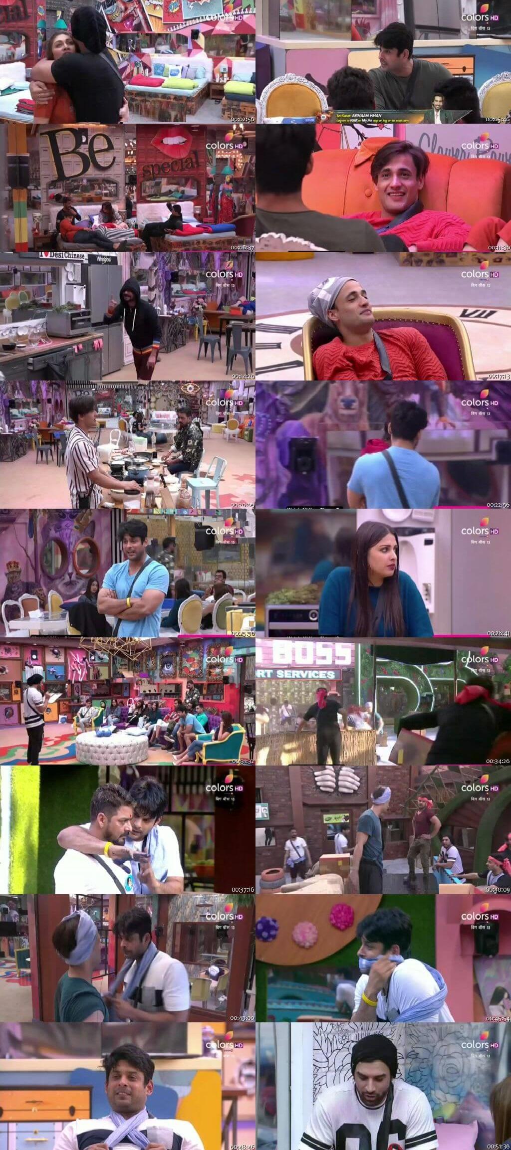 Screenshots Of Hindi Show Bigg Boss 13 5th November 2019 Episode 36 300MB 480P HD