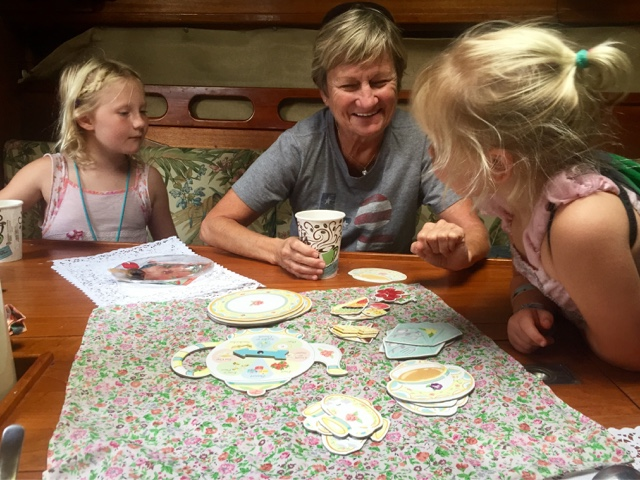 Tea party with Ms. Linda