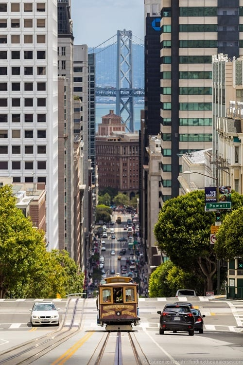 Tram in San Francisco streets