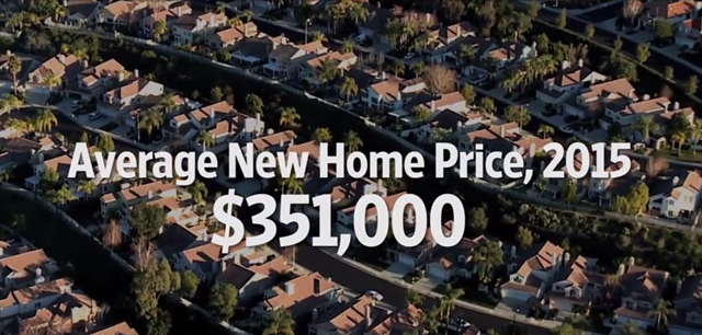 The average new U.S. home price in 2015 was $351,000. Graphic: The Wall Street Journal