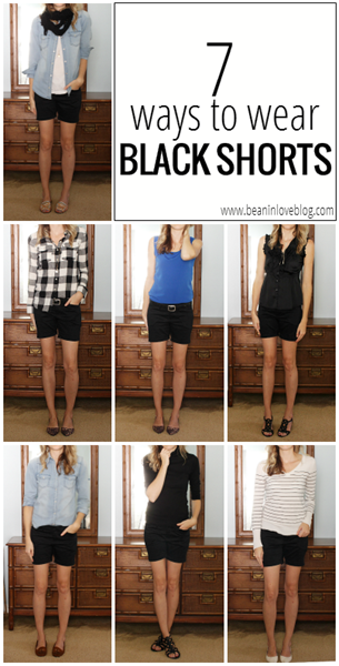 7 ways to wear black shorts