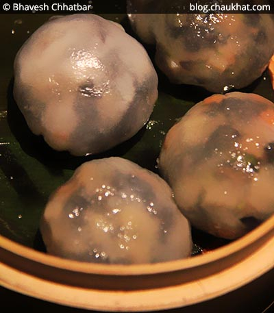 Crystal Vegetable Dumplings at Shizusan (The Asian Bistro) in Phoenix Market City at Viman Nagar area of Pune