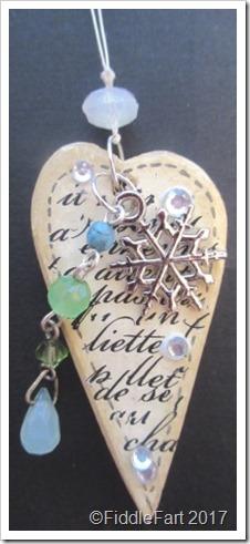 Heart Christmas Charm Parcel Charm