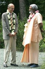 Sadhu Maharaja with Slovenian president Dr. Janez Drnovsek