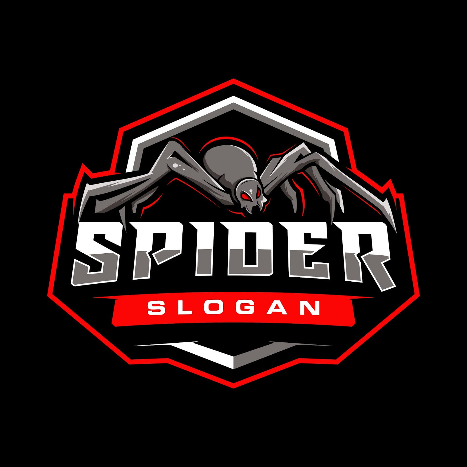 Spider Gaming Badge Free Download Vector CDR, AI, EPS and PNG Formats