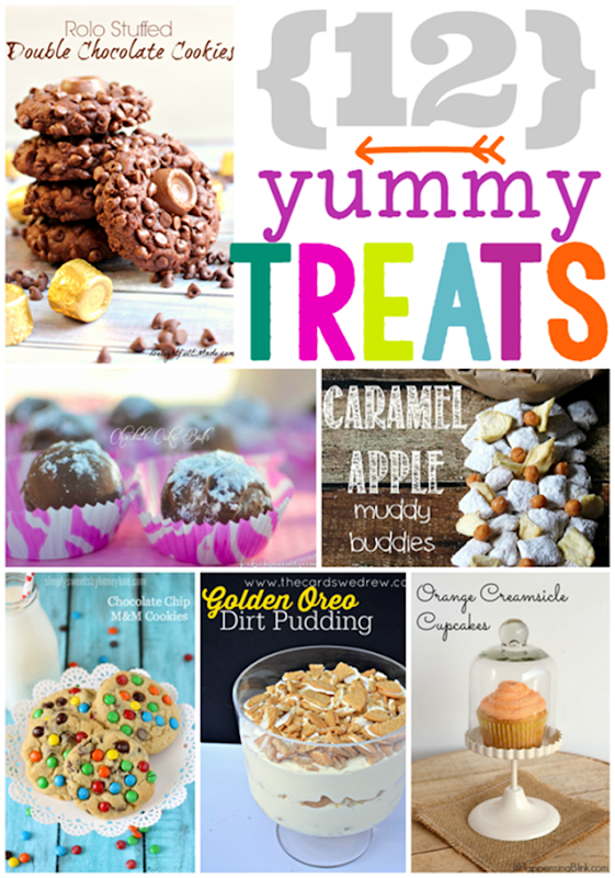 12 Yummy Treats at GingerSnapCrafts.com #desserts #yummy #linkparty #features_thumb[1]