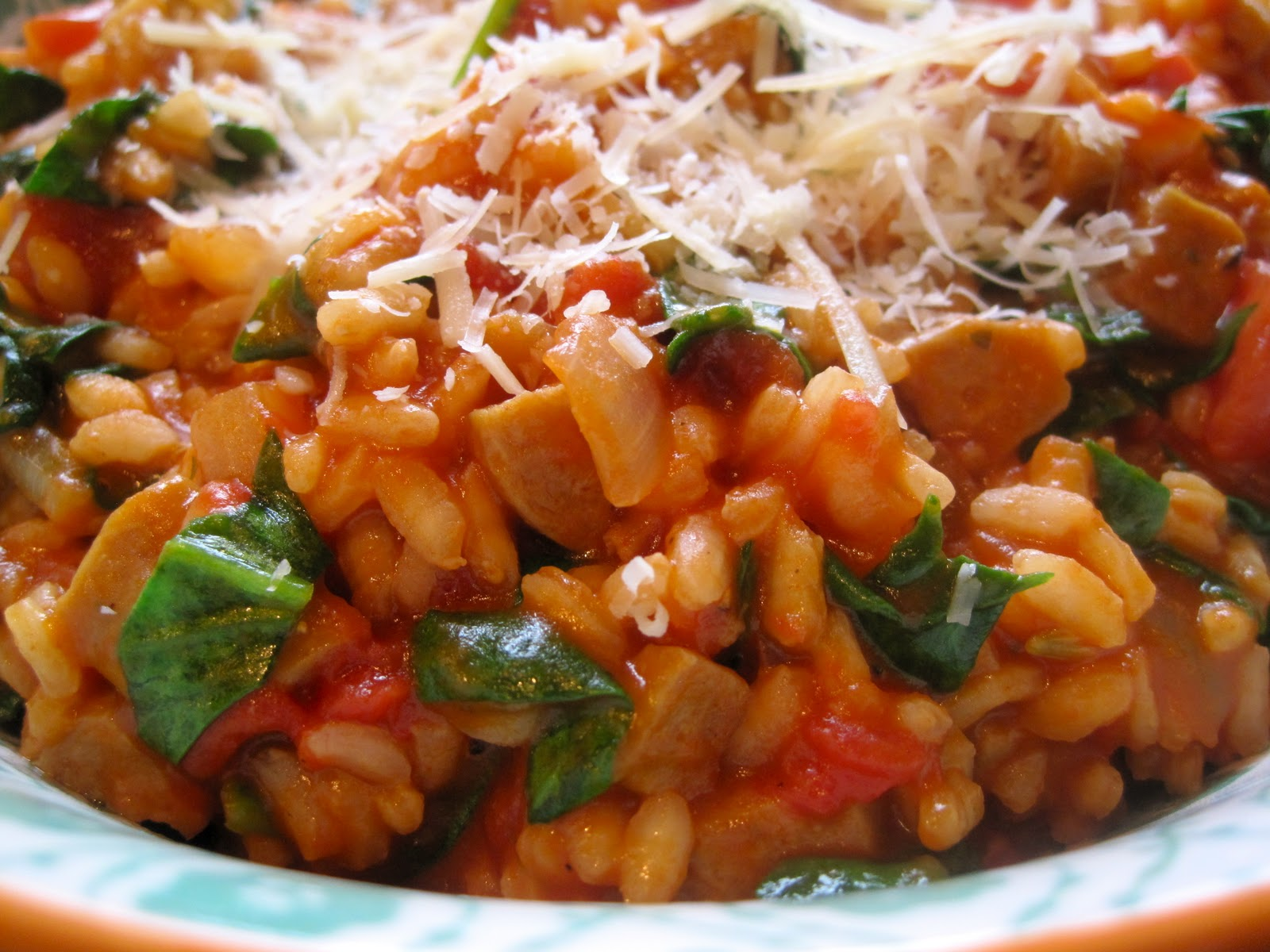 delectably gluten-free: Tomato and Sausage Risotto