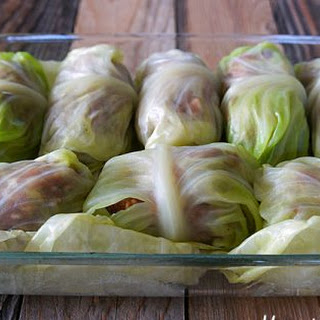 Cabbage Rolls with Creamy Tomato Sauce.
