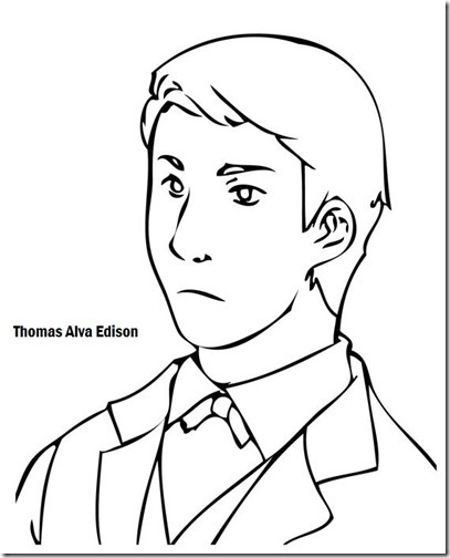 Thomas Alva Edison colorear (1)