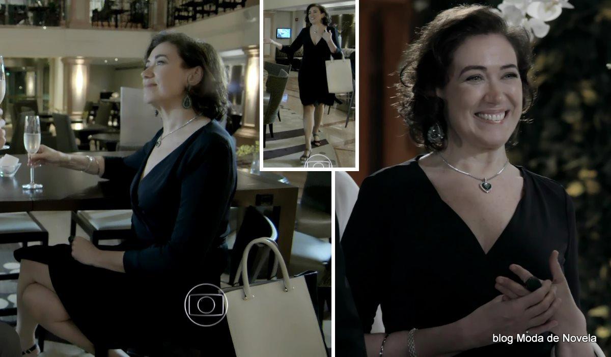 moda da novela Império, look da Maria Marta dia 17 de outubro