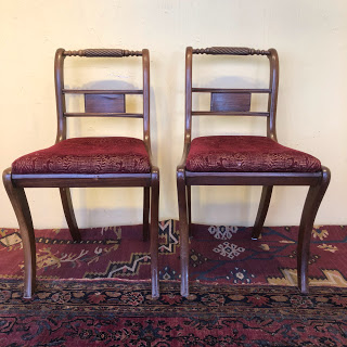 Mahogany, Empire Style Side Chair Pair