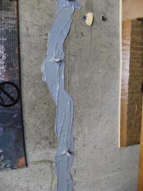Epoxy Concrete Foundation Crack Repair Kit Applied