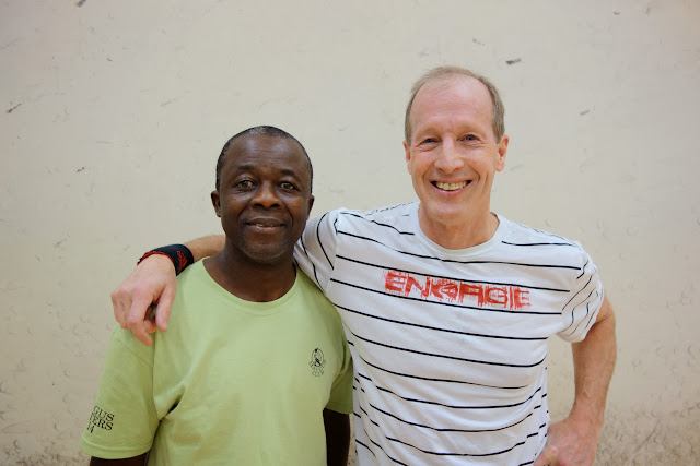 Men 55+ Singles: Nana Poku, Finalist,Barclay Douglas, Winner