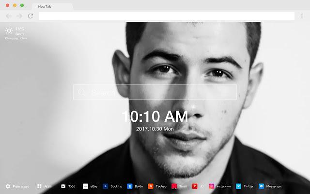 Nick Jonas HD Pop Stars New Tabs Themes