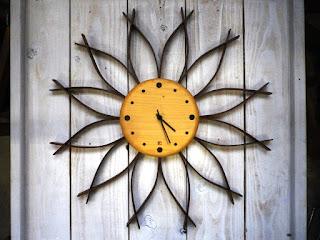サンフラワークロック(M)メープル sunflower clock maple (M)