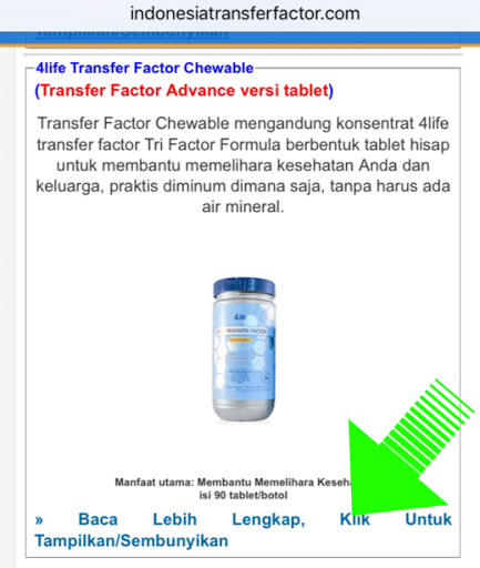 Informasi lengkap Transfer Factor
