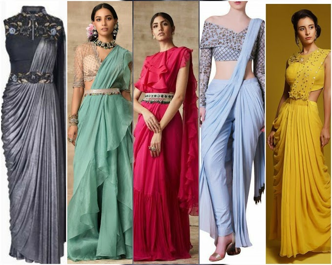 9 Unique And Offbeat Fushion Saree Draping Ideas Make You Eye Stuck|Saree drapes