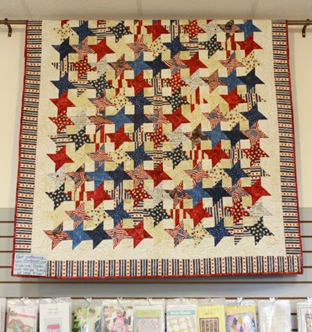 Land of the free display quilt