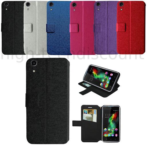 Housse etui coque pochette portefeuille pour Wiko Rainbow Up 4G ...