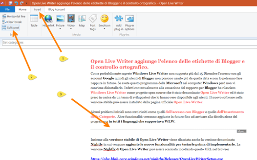 inserisci-intervallo-open-live-writer