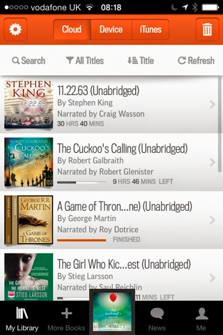 How much are books on audible app