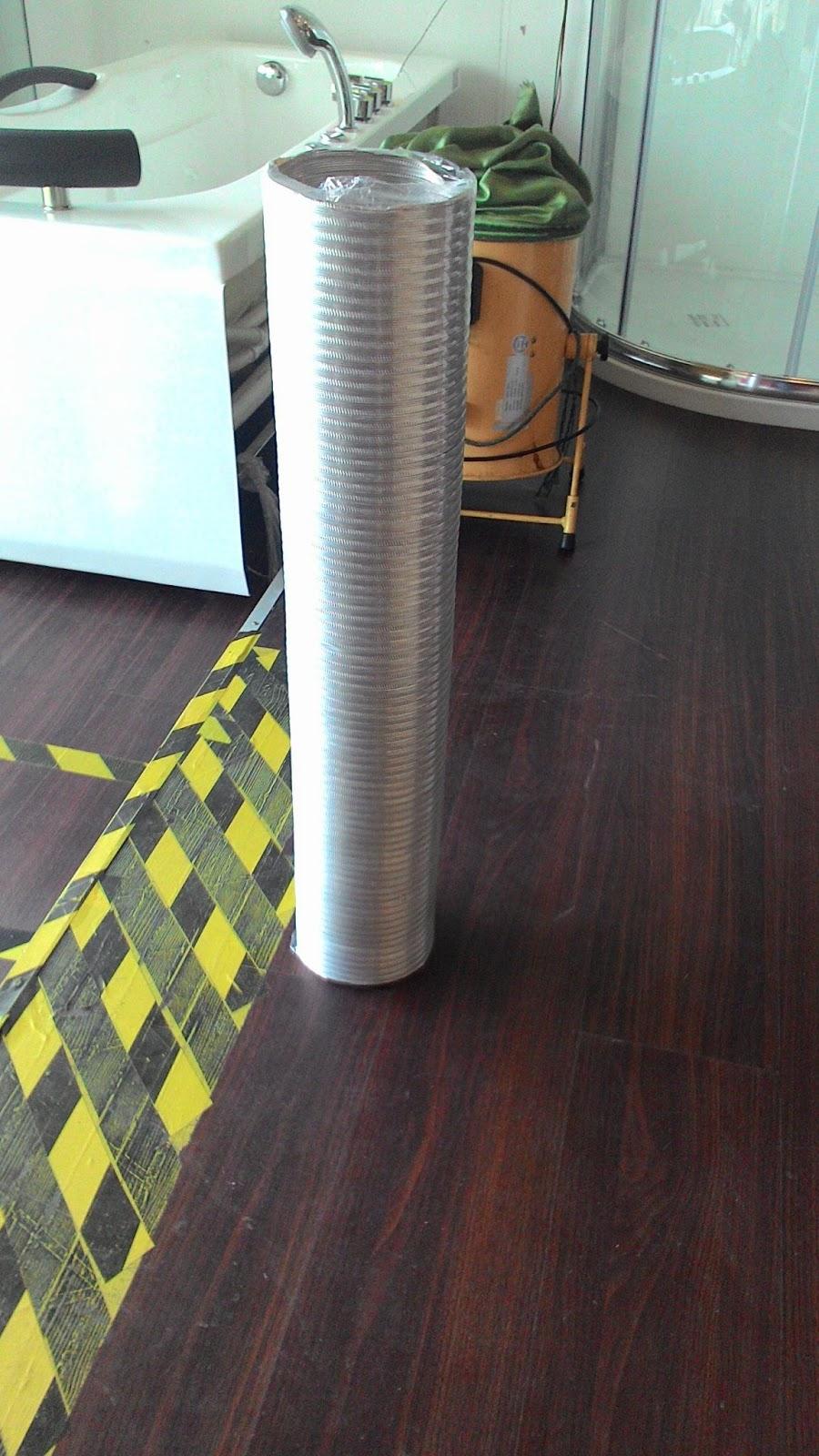Dapat This 8ft Aluminium Coil Untuk Pemasangan Nanti Actually Dalam Pakej Ni Dah Yg Pvc Tp Orang Kedai Ckp Dorang Bagi