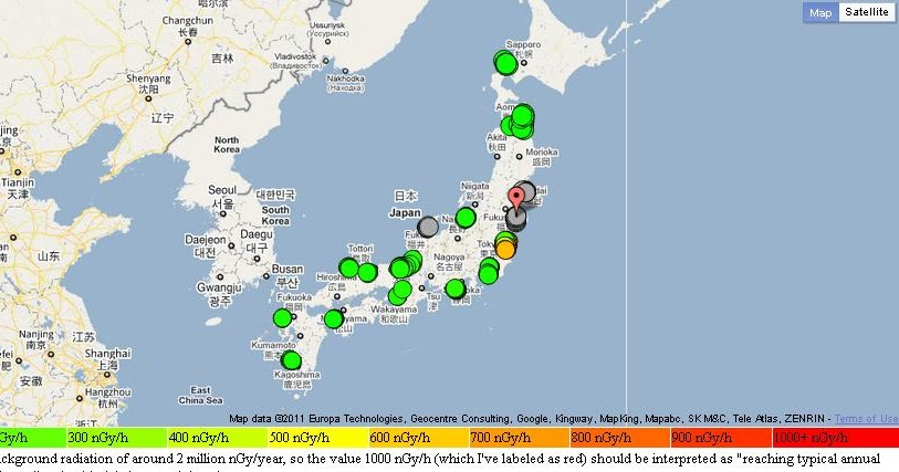 Where Are The Clouds Fukushima Japanese Radiation Monitoring - Japan map labeled