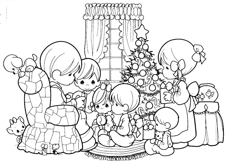 Christmas free precious moments coloring pages for Coloring pages precious moments print