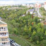 Общий вид долины ручья.  Вдали улица Уинская, справа - Пушкарская