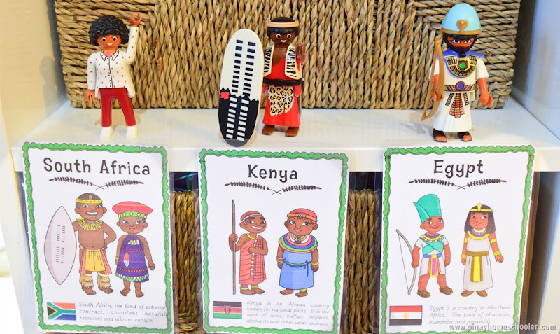 Africa Continent Costume Cards