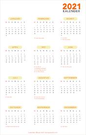 Kalender 2021 Gratis Format CDR Editable dan PDF