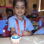 Diya Decoration Activity of Grade 1 at Witty World, Chikoowadi (2017-18)