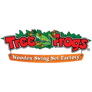 Tree Frogs Wooden Swing Set Factory