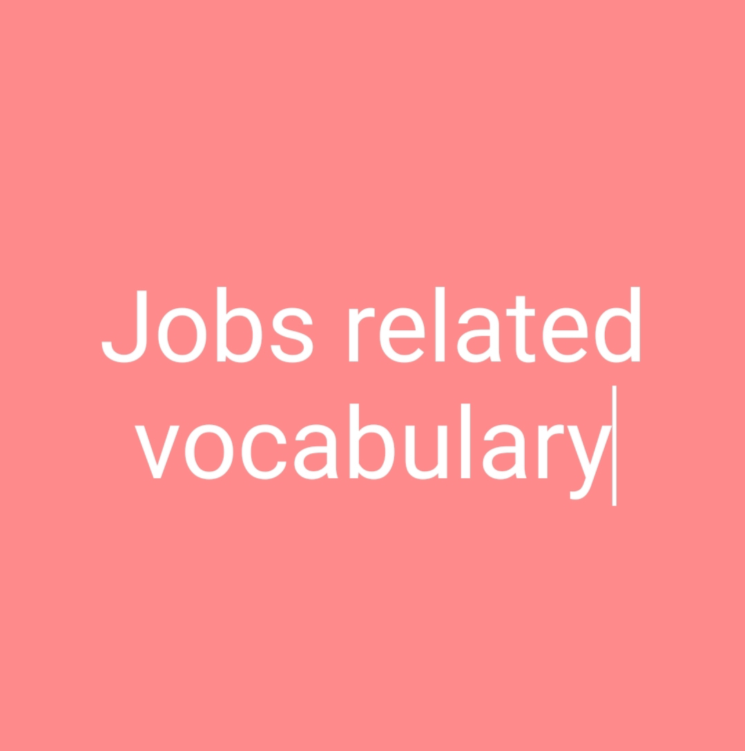 jobs related vocabulary with exampels