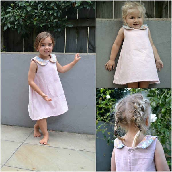 Clementine dress collage