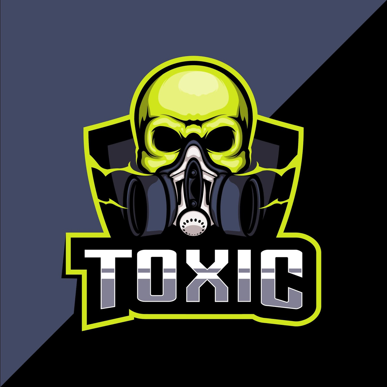 Toxic Mask Esport Logo Design Free Download Vector CDR, AI, EPS and PNG Formats