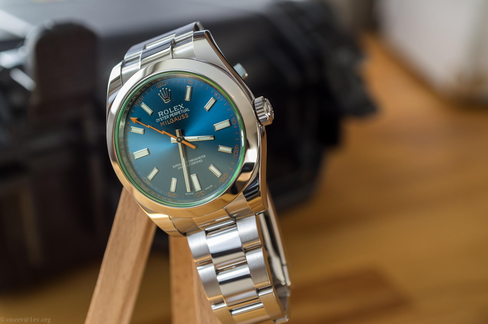 Revue illustrée de la Rolex Milgauss Z-Blue 20150208-DSCF5960