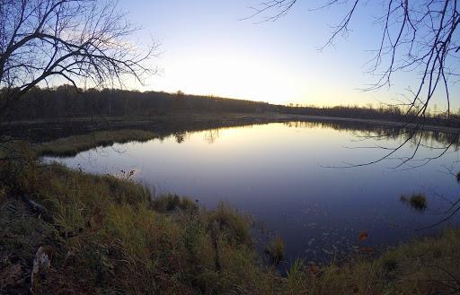 Sunrise over Mulari lake near Twin Lakes ski trail, October 13th, 2016